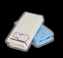 Strech lepedő babaágyba Joy toTs-smarTrike vízilovas 2 darab 100% pamut szatén kék