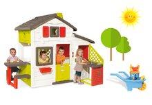 Set detský domček Priateľov Smoby s kuchynkou a tečúcou vodou a fúrik s vedro setom Hľadá sa Dory