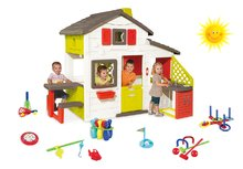 Set detský domček Priateľov Smoby s kuchynkou a tečúcou vodou a športový set 7 hier