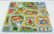 Puzzle din burete City Map - Harta oraşului Lee Chyun 81 bucăţi de la 0 luni