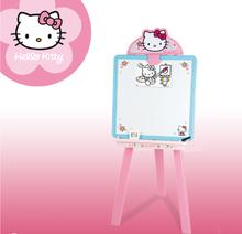 Staré položky - Obojstranná tabuľa Hello Kitty 2v1 Smoby s 18 doplnkami ružovo-modrá_5