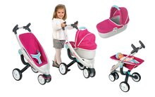 Set detský kočík pre bábiku 3v1 Maxi Cosi & Quinny Smoby (70 cm rúčka) a autosedačka