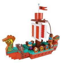 Nezaradené - Stavebnica PlayBIG Bloxx BIG Wickie loď vikingov s 2 figúrkami 124 kusov od 1,5 - 5 rokov_2