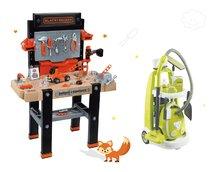Set pracovní dílna Black&Decker Smoby elektronická a úklidový vozík Clean s vysavačem