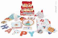 Dětská narozeninová sada Circus Happy Janod se zvířátky od 3-8 let