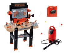 Dětská dílna sety - Set pracovní dílna Black+Decker Smoby lavice na kreslení a magnetky Little Pupils_29