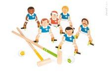 Detská drevená hra kroket Champions Croquet Janod so 6 futbalistami od 4 rokov
