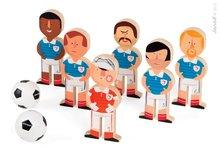 Drevené kolky pre deti Champions Soccer Skittles Janod s futbalistami