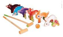 Drevený kroket pre deti Forest Animal Croquet Janod so 6 lesnými zvieratkami
