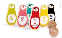 Drevené kolky pre deti Tučniaky Janod vo vrecku