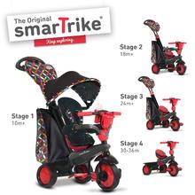 smarTrike 1595202 červeno-černá tříkolka Boutique Red Touch Steering 4v1 od 10 měsíců