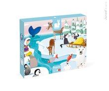 Puzzle Tactile Život na ľade Janod s textúrou od 3 rokov 20 dielov