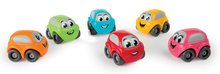 Detské autíčko Vroom Planet Smoby rôzne farby dĺžka 7 cm na karte od 12 mesiacov