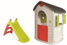 Domčeky so šmykľavkou - Domček Natur'Home Smoby so šmykľavkou UV filter 130 cm výška od 24 mes_0