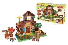 Stavebnica PlayBIG Bloxx Máša a medveď v horskom domčeku BIG s 2 figúrkami 162 dielov od 18 mesiacov
