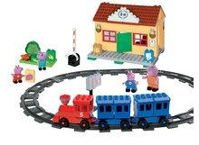 BIG 57079 építőjáték PlayBIG Bloxx Peppa Pig a vasútállomáson 4 figurával 18 hó kortól