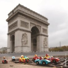Autíčka - Drevené auto Roadster Story Racing Janod modré/zelené_4
