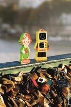 Puzzle pre najmenších - Drevené magnetické figúrky Dolls Funny Magnet Janod 4 ks od 18 mes_1