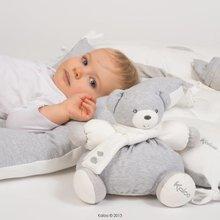 Plyšové medvede - Plyšový medvedík Zen-Chubby Bear Kaloo s hrkálkou 30 cm v darčekovom balení pre najmenších šedý_0