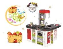 Set kuchynka pre deti Tefal Studio XXL Smoby elektronická s magickým bublaním a formy na pečenie Perníková chalúpka