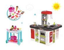 Set kuchynka pre deti Tefal Studio XXL Smoby elektronická s magickým bublaním a servírovací vozík so zmrzlinou