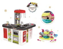 Set kuchyňka pro děti Tefal Studio XXL Smoby elektronická s magickým bubláním a cukrárna na výrobu čokoládových lízátek