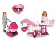 Domčeky pre bábiky sety - Set opatrovateľské centrum pre bábiku Baby Nurse Smoby a hlboký oválny kočík pre bábiku (56 cm rúčka) od 3 rokov_14