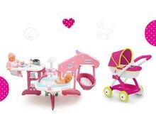 Domčeky pre bábiky sety - Set opatrovateľské centrum pre bábiku Baby Nurse Smoby a hlboký kočík Máša a medveď (58 cm rúčka) od 3 rokov_12