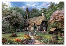Puzzle 1500 dielne - Puzzle Rose Cottage, J. D. Davison Educa 1500 dielov_0