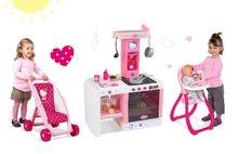 Kuchynky pre deti sety - Set kuchynka Hello Kitty Cheftronic Smoby so zvukmi, kočík bugina (53,5 cm rúčka) a jedálenská stolička pre bábiku_16