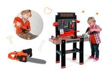 Set pracovná dielňa pre deti Black+Decker Smoby s vŕtačkou a elektronická motorová píla