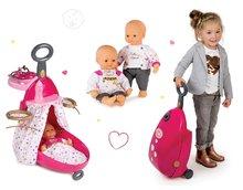 Set prebaľovací vozík pre bábiku Baby Nurse Zlatá edícia Smoby s postieľkou a bábika 32 cm od 18 mesiacov