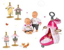 Set prebaľovací vozík pre bábiku Baby Nurse Zlatá edícia Smoby s postieľkou, bábika 32 cm a 3 šaty od 18 mesiacov
