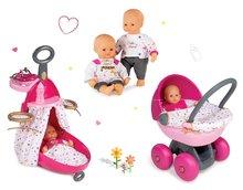 Set prebaľovací vozík pre bábiku Baby Nurse Zlatá edícia Smoby s postieľkou, bábika 32 cm a hlboký kočík od 18 mesiacov