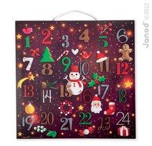 Cardboard puzzle Adventný kalendár Janod 48 dielové pre deti 4-10 rokov