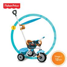 Trojkolky od 10 mesiacov - Trojkolka Fisher-Price Jolly Plus smarTrike modro-oranžová od 12 mes_0