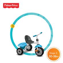 Trojkolky od 10 mesiacov - Trojkolka Fisher-Price Jolly Plus smarTrike modro-oranžová od 12 mes_1