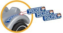 Odrážadlá od 12 mesiacov - Odrážadlo Bobby Classic Police BIG s majákom strieborné od 12 mes_3