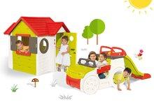 Smoby 840200-1 szett mászóka Adventure Car csúszdával és házikó My House 2 éves kortól