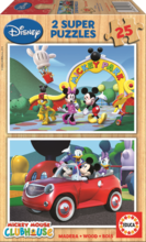 Fa puzzle Mickey Mouse Educa 2x25 db