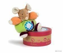 Plišasta miška Colors-Chubby Mouse Snail Kaloo 18 cm v darilni embalaži za najmlajše