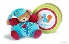 Plišasti medvedek Colors-Chubby Bear Apple Tree Kaloo z ropotuljico 25 cm v darilni embalaži za najmlajše