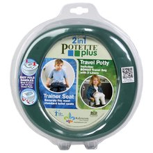 Potovalna kahlica/nastavek za WC Potette Plus zeleno-rjava