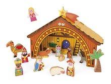 Detský drevený Betlehem Svätá noc Janod s 15 drevenými figúrkami v darčekovom balení