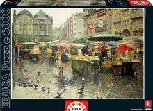 EDUCA 16024 Puzzle Genuine Produce Market, Basel, 6000 db