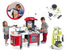 Kuchynky pre deti sety - Set kuchynka Tefal SuperChef Smoby s grilom a kávovarom a upratovací vozík Clean_27