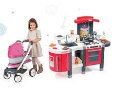 Kuchynky pre deti sety - Set kuchynka Tefal SuperChef Smoby s grilom a kávovarom a kočík pre bábiku retro Maxi Cosi & Quinny 3v1 (rúčka 65,5 cm)_32