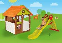 Domčeky so šmykľavkou - Set domček Máša a medveď Smoby s kvetináčom a šmykľavka Toboggan Funny vlnkovitá s dĺžkou 2 m od 24 mes_7