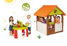 Domčeky sety - Set domček Máša a medveď Smoby s kvetináčom a stôl Záhradník De Jardinage od 24 mes_25
