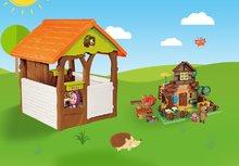 Domčeky sety - Set domček Máša a medveď Smoby s kvetináčom a stavebnica PlayBIG Bloxx domček 162 dielov od 24 mes_2